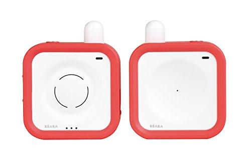 BÉABA Écoute-Bébé Rechargeable Minicall, 300m de Portée, 25h d'autonomie, Corail