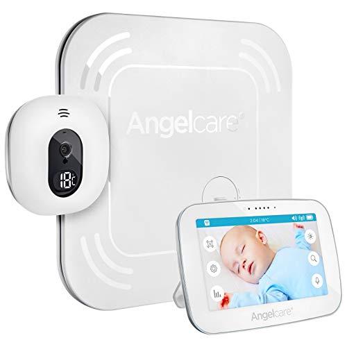 Angelcare AC315 - Babyphone Vidéo & Son et Moniteur de mouvements - Caméra sans Fil avec Ecran...